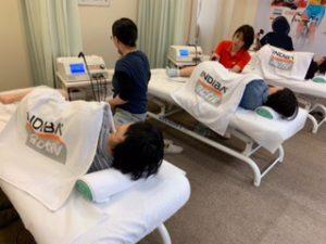 鍼灸治療院稲毛海岸のスタッフで目黒のインディバジャパン本社で講習を受けています。