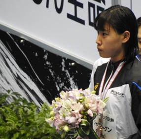 50m自由形 表彰式での大内選手