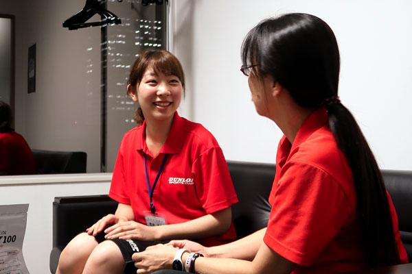 笑顔と人柄でさっそく人気の新入社員