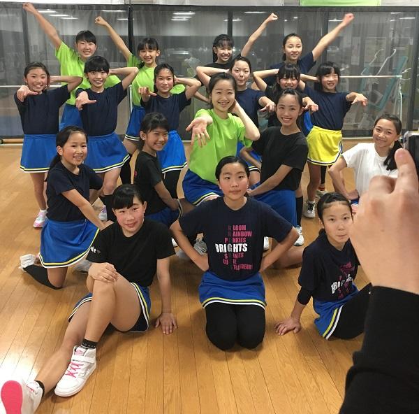 ダンロップスポーツクラブのチアダンスチーム